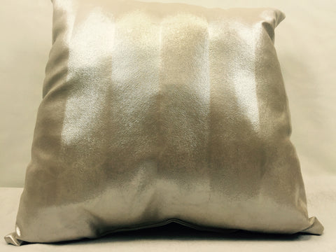 Pony Cream Faux Leather Home Decorative Pillow