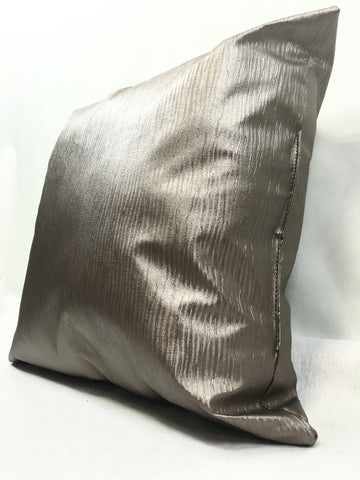 Rain Dark Grey Faux Leather Home Decorative Pillow