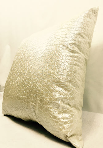 Spot Cream Faux Leather Home Decorative Pillow