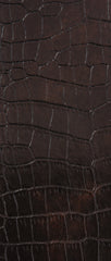 Mini Croco Brown Vinyl Leather Upholstery Fabric