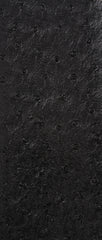 Ostrich Black Vinyl Leather Upholstery Fabric