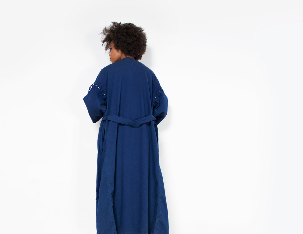Blue Irene Coat by Rodebjer