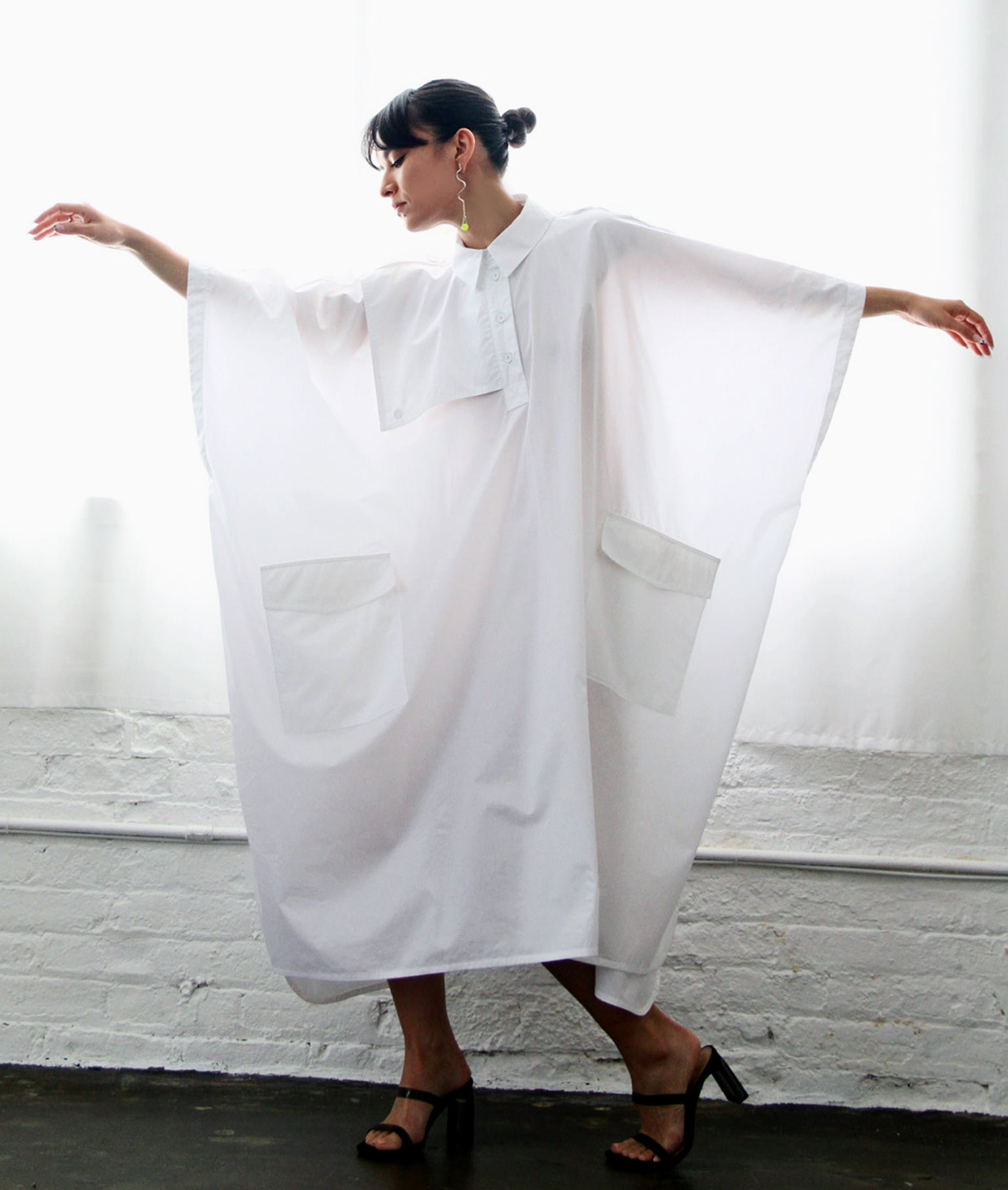 Oversize white dress by Nehera