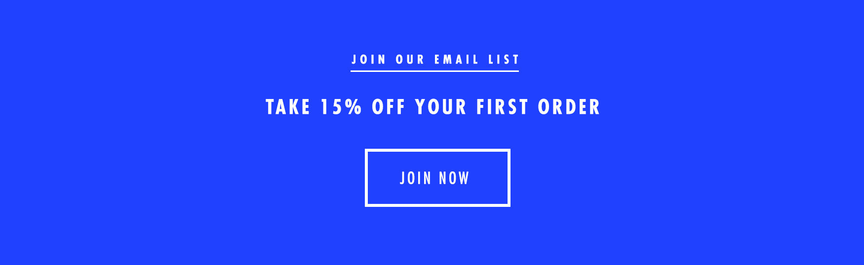 Sign Our Email List