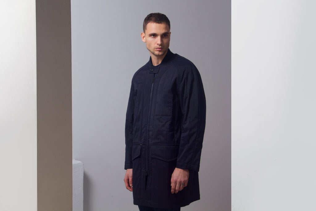 Ddugoff quilted baseball coat