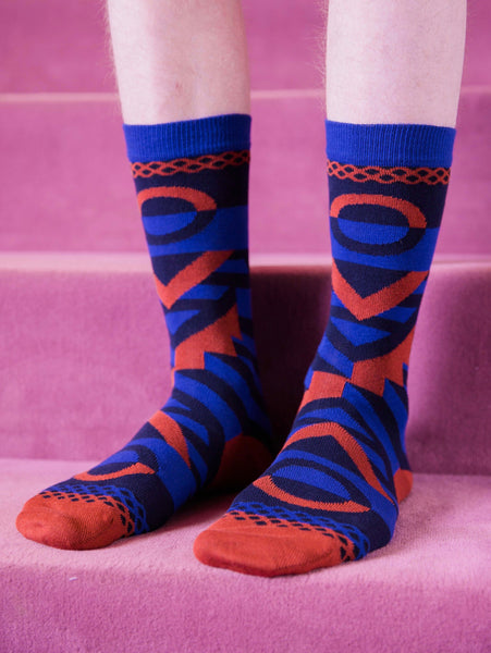 Peyote Socks - Blue by Henrik Vibskov