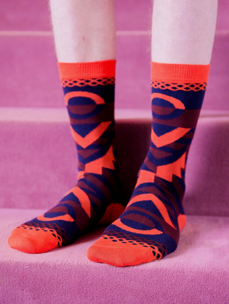 Peyote Socks - Bourdeaux by Henrik Vibskov