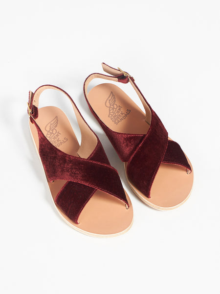 Maria - Velvet Bordeaux by Ancient Greek Sandals