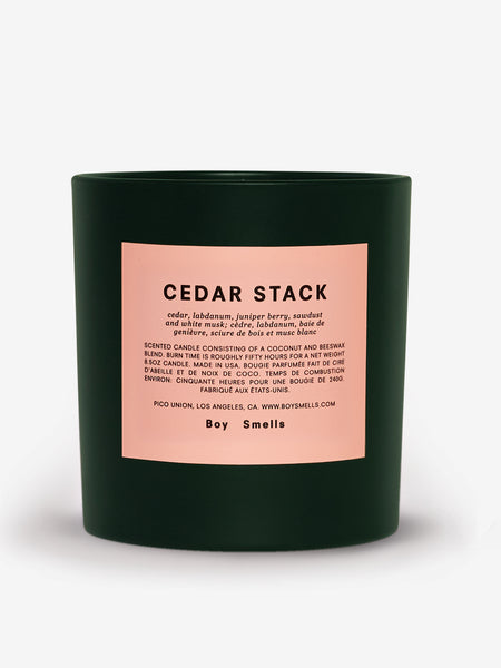 Holiday Cedar Stack Candle by Boy Smells