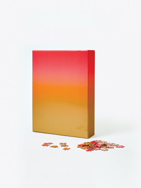 Large Gradient Puzzle - Red/Orange/Gold by Areaware