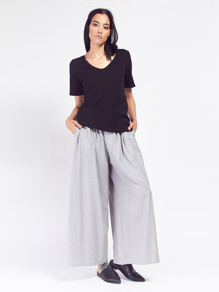 Coast Pant - Grey Melange by Kowtow