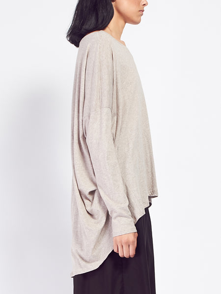 Building Block Drape Top Oatmeal by Kowtow