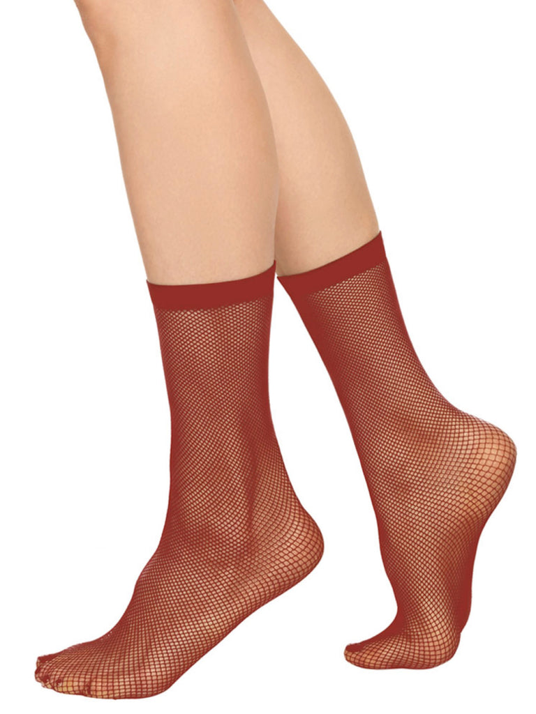 Liv Net Ankle Sock - Rust by Swedish Stockings