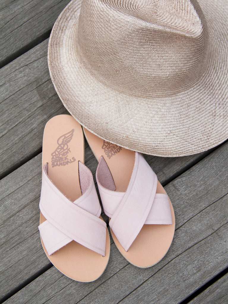 Thais Nubuck Pink by Ancient Greek Sandals