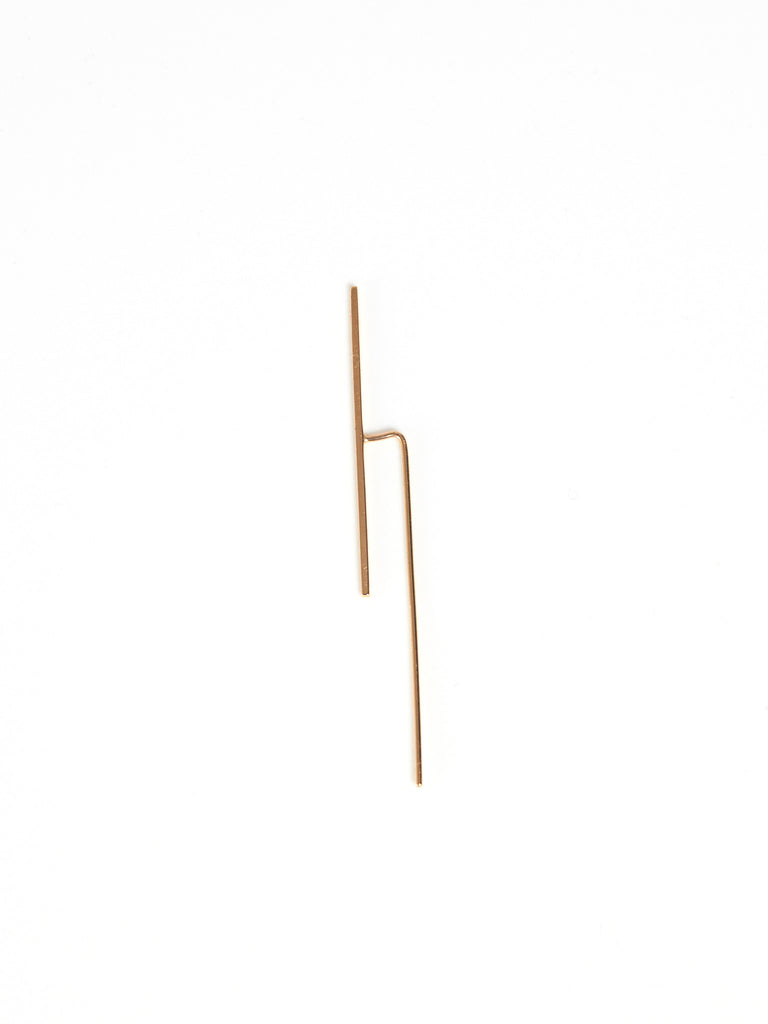 Large Bar Ear Hook Gold by Kristen Elspeth