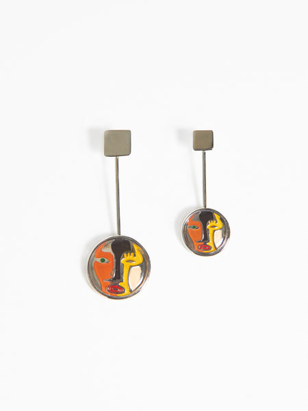 Two Face Earrings by Anndra Neen
