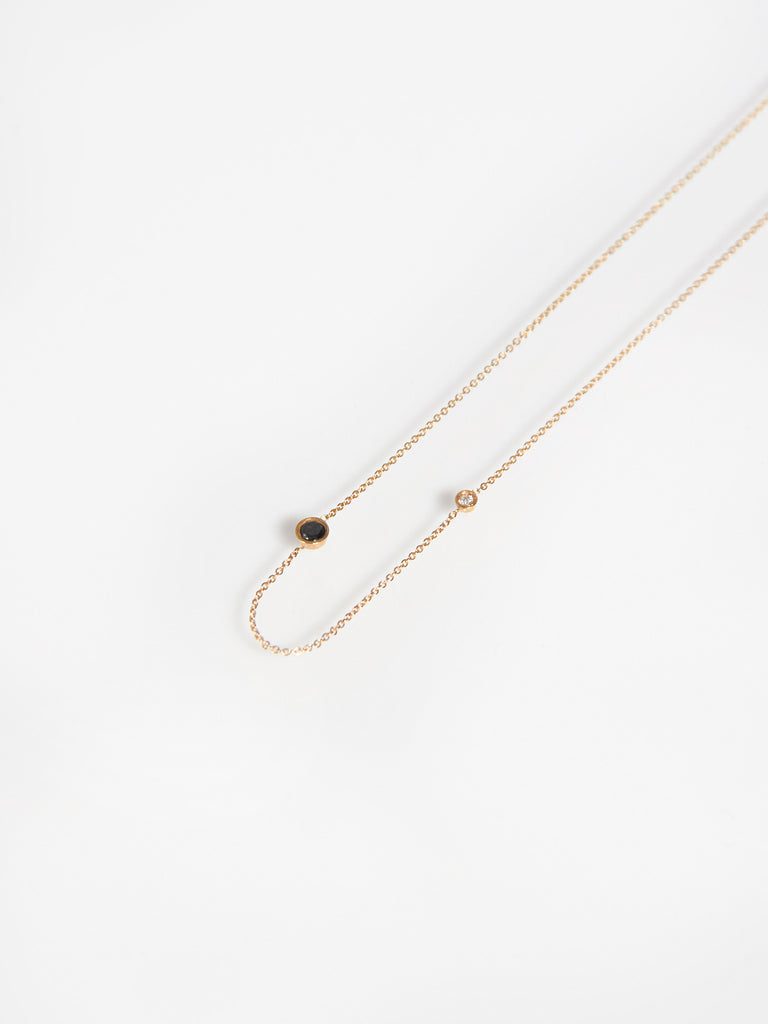 Iba Necklace Black Diamond by Still House