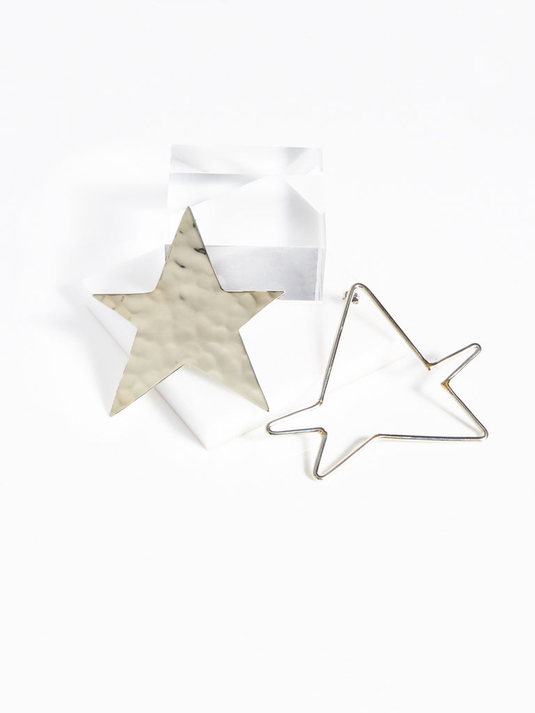 Ying Yang Star Earrings by Anndra Neen