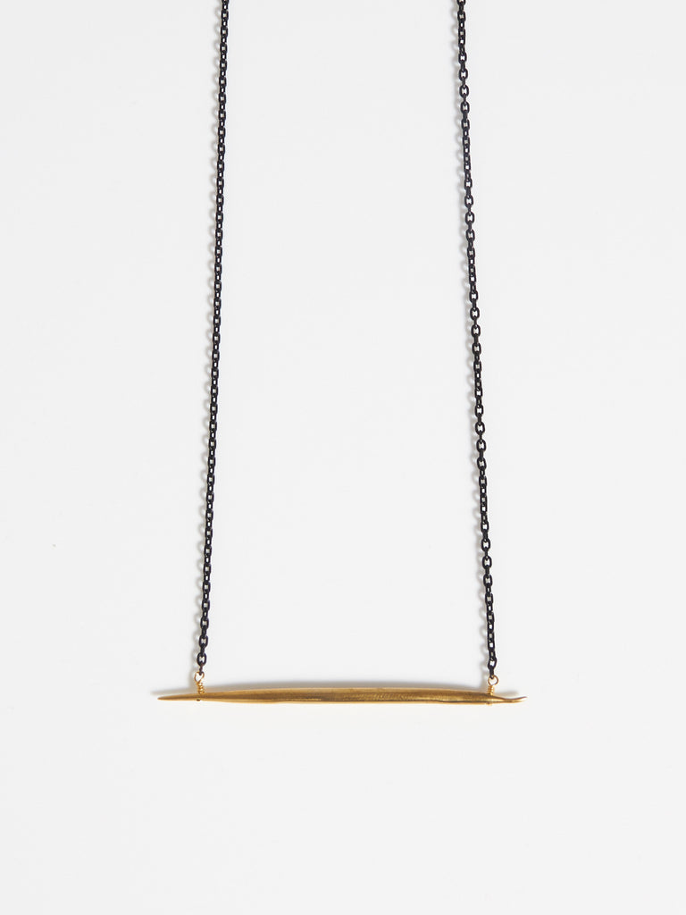 Petite Quill Lateral Necklace by K/LLER