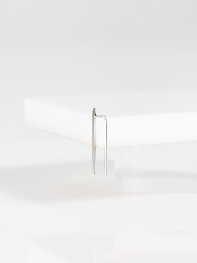Bar Ear Pin Silver by Kristen Elspeth