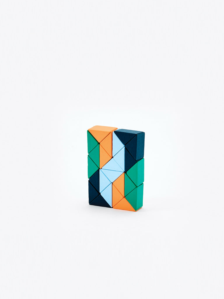Small Snake Block - Orange/Blue by Areaware