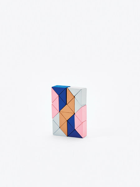 Small Snake Block - Pink/Beige by Areaware