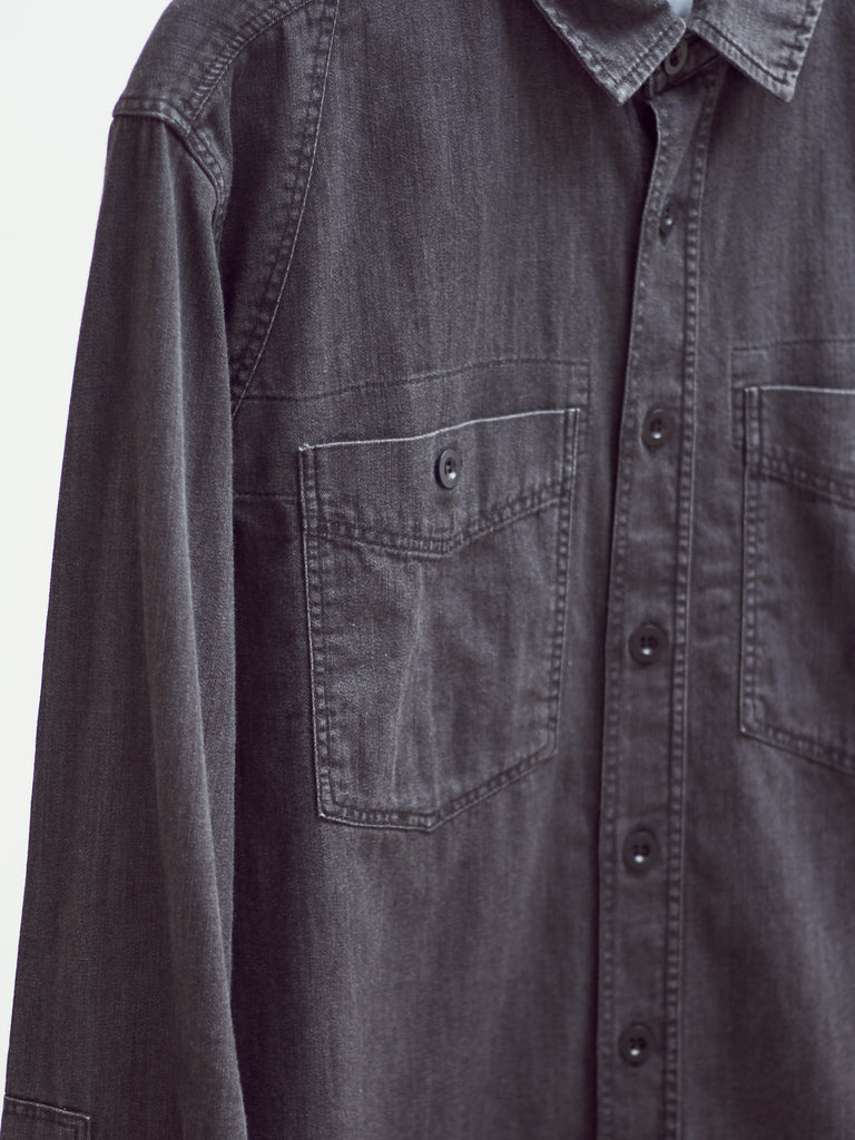 Carpenters Work Shirt - Washed Black by Albam