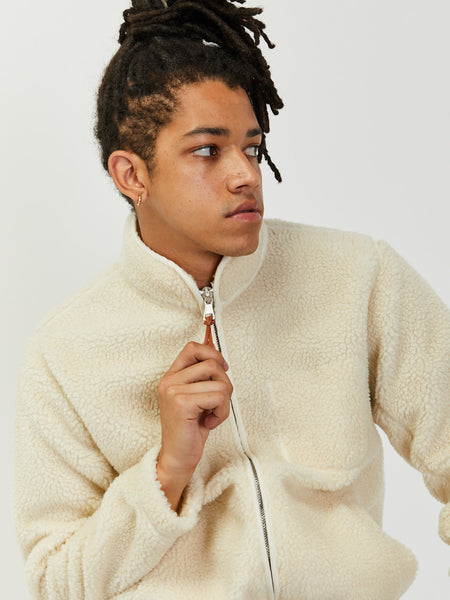 Zipped Curly Fleece Jacket by Albam