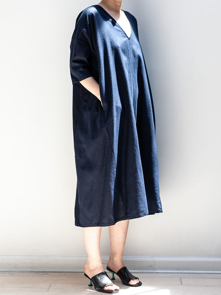 Kimono Dress w/ Pockets - Navy  by Ali Golden