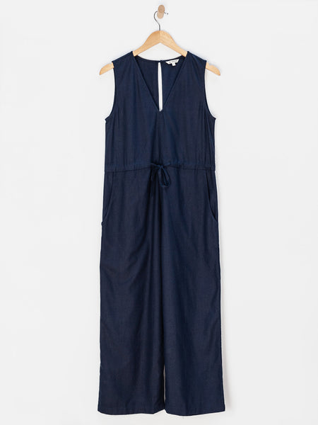 Silk Slit Back Jumper - Navy  by Ali Golden