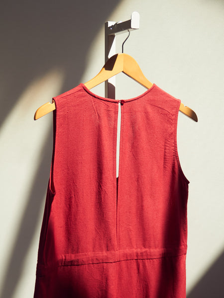 Silk Slit Back Jumper - Raspberry  by Ali Golden