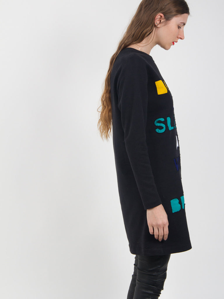 Applique Sweatshirt Dress by Risto