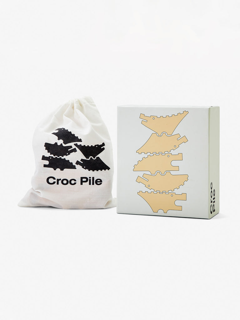 Croc Pile Large Set of 5 - Natural by Areaware