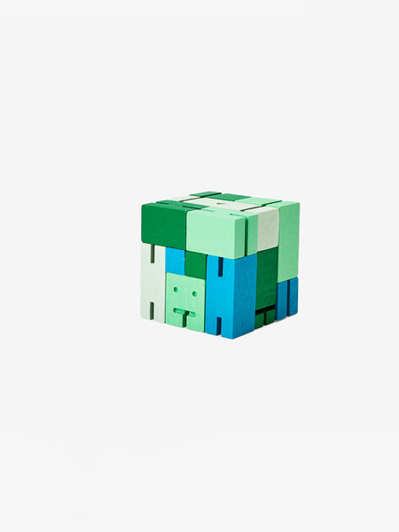 Cubebot Small - Green by Areaware