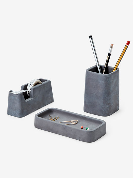 Concrete Desk Set (Charcoal) by Areaware