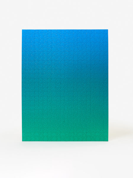 Gradient Puzzle - Blue/Green by Areaware