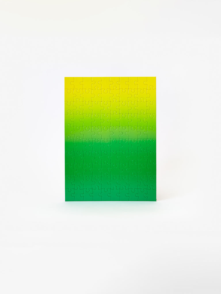 Gradient Puzzle Small - Green/ Yellow by Areaware