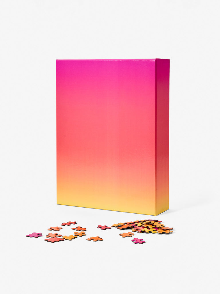 Gradient Puzzle Large - Pink/Orange/Yellow by Areaware
