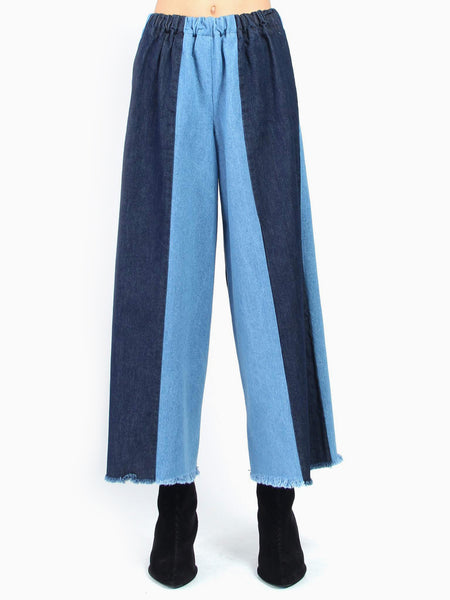 Washed Sewn Stripe Pants by Ashley Rowe
