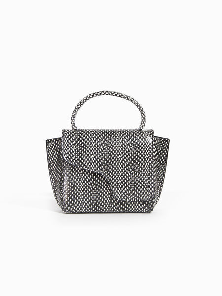 Montalcino Printed Snake Bag - Black White Dot by ATP Atelier