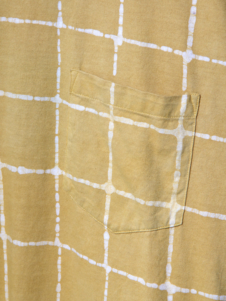 Batik Checks Tee Yellow by Industry of All Nations