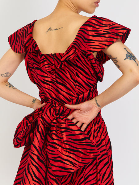 Bow Dress - Red Zebra by Batsheva