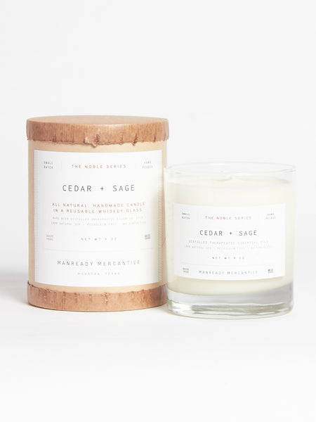 Cedar & Sage Candle by Manready Mercantile