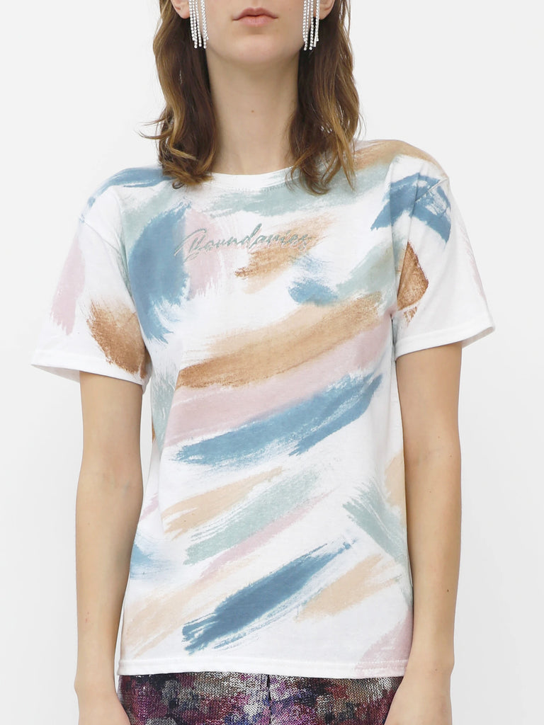 Boundaries Tee - Brush Strokes by Collina Strada