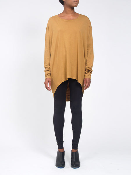 Drape Back Top Gold by Kowtow