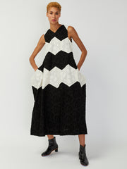 Queen Bee Dress - Black/Natural