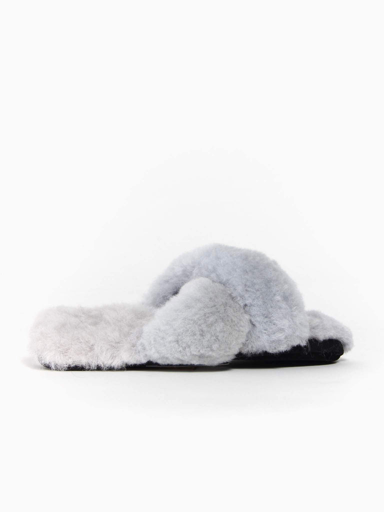 Criss Cross Slides - Grey by Ariana Bohling