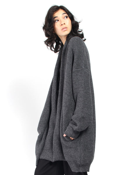 Chunky Cardigan - Charcoal by Ali Golden