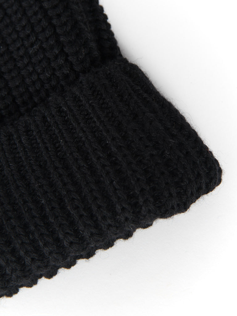 Machine Knit Watch Cap - Black by Wings and Horns