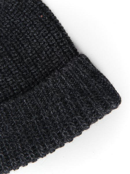 Machine Knit Watch Cap - Charcoal by Wings and Horns